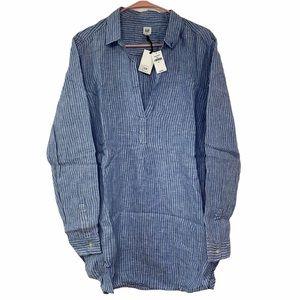 GAP Blue Striped Chambray Tunic Size XL